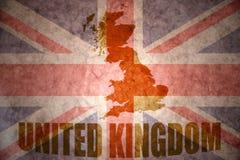 Vintage united kingdom map Stock Photo