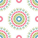 Vintage universal different seamless eastern patterns (tiling) Royalty Free Stock Photos