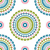 Vintage universal different seamless eastern patterns (tiling). Stock Image