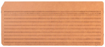 Vintage unused computer punch cards Royalty Free Stock Images