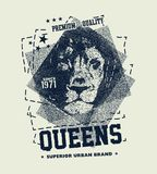 Vintage urban typography with lion head Stock Photography