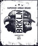 Vintage urban typography vector illustration Stock Photos
