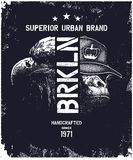 Vintage urban typography vector illustration Stock Photo