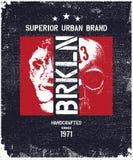 Vintage urban typography vector illustration Royalty Free Stock Image