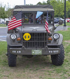 Vintage US Army Truck Front View Stock Image