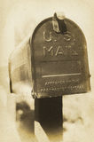 Vintage US Mailbox. An old vintage style photograph of a U.S. mailbox Stock Photos