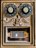 Vintage US Post office Box. A Vintage US Post office Box door stock photography