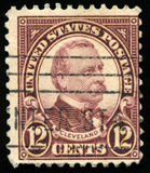 Vintage US Postage Stamp of President Cleveland 1922 Royalty Free Stock Photo