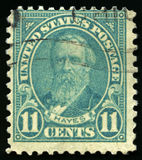 Vintage US Postage Stamp of President Hayes Royalty Free Stock Photography