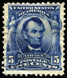 Vintage US Postage Stamp of President Lincoln 1902 Royalty Free Stock Image