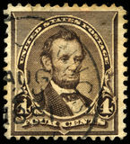 Vintage US Postage Stamp of President Lincoln Stock Photo