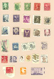 Vintage US Postage Stamps Royalty Free Stock Images