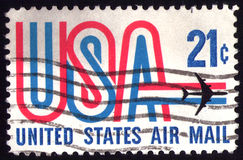 Vintage US stamp stock image