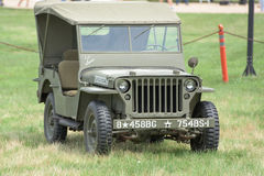 Vintage USA army Jeep from World War Royalty Free Stock Photo