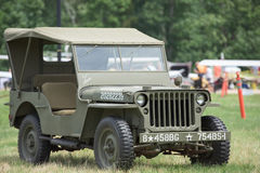 Vintage USA army Jeep from World War Stock Images