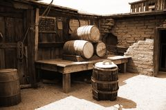 Vintage USA barrels Stock Photos