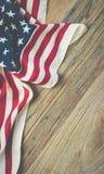 Vintage USA flag background. stock image