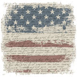 Vintage usa flag background with isolate grunge bo Stock Image
