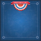 Vintage USA Flag Bunting Independence Day Stock Photo