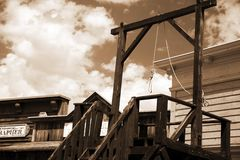 Vintage USA gallows in wild west Royalty Free Stock Image