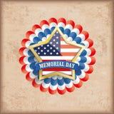 Vintage USA Golden Star Bunting Flag Memorial Day Stock Image
