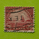 Vintage USA postage stamp. 1931 issue of 20cents Golden Gate to San Francisco Bay Royalty Free Stock Image