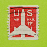 Vintage USA postage stamp. A vintage United States 1949/1971 Airmail postal stamp Stock Photos
