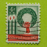 Vintage USA postage stamp. A vintage United States  1962 Christmas issues postage stamp Royalty Free Stock Photography