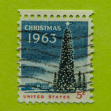 Vintage USA postage stamp. A vintage United States  1962-66 Christmas issues postage stamp Royalty Free Stock Photography