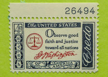Vintage USA postage stamp. A vintage United States unused postage stamp Royalty Free Stock Photo