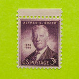Vintage USA postage stamp. A vintage United States unused postage stamp of Alfred E. Smith Stock Photo