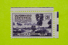 Vintage USA postage stamp. A vintage United States unused postage stamp of the California Gold centennial Stock Photography