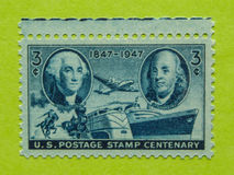 Vintage USA postage stamp. A vintage United States unused postage stamp centenary 1847-1947 Stock Images