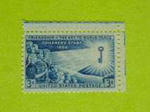 Vintage USA postage stamp. A vintage United States unused postage stamp of Children`s stamp, 1956 Stock Photo