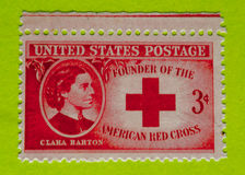 Vintage USA postage stamp. A vintage United States unused postage stamp of Clara Barton royalty free stock photography