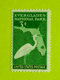 Vintage USA postage stamp. A vintage United States unused postage stamp of Everglades National Park Stock Photos