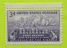 Vintage USA postage stamp. A vintage United States unused postage stamp of Fort Kearny Stock Photography