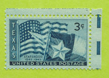Vintage USA postage stamp. A vintage United States unused postage stamp of Texas Statehood, 1845-1945 royalty free stock image