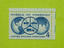 Vintage USA postage stamp royalty free stock photo