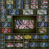 Vintage USA states flag. Royalty Free Stock Photos