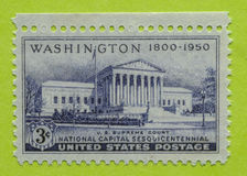 Vintage USA unused postage stamp. A vintage United States postage stamp of Washington 1800-1950 Stock Photo