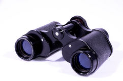 Vintage Used Black Binoculars Royalty Free Stock Photos