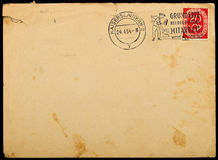 Vintage used mailing envelope,circa 1954. Stock Images