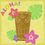 Vintage Vacation Retro Aloha Card Royalty Free Stock Image