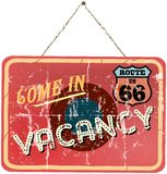 Vintage vacation sign Stock Photo