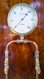 Vintage Vacuum Pressure Gauge Royalty Free Stock Images
