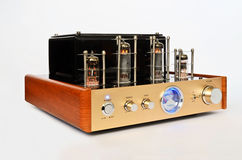 Vintage vacuum tube amplifier Stock Image