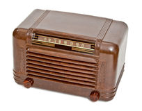 Vintage Vacuum Tube Radio. Vintage brown plastic case vacuum tube radio stock photography