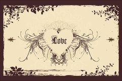 Vintage valentine background Stock Photography
