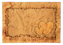 Vintage valentine background. With old paper Stock Photos